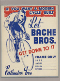 Bache Brothers Cycle Display Card