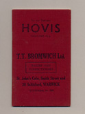 Hovis bakery sales book