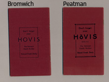 Hovis bakery sales book, back cover
