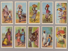 Raydex cigarette cards, African types