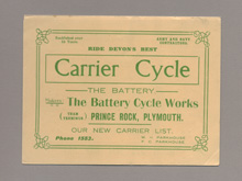 Tradesmens carrier cycles