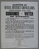 Election voter guidance poster