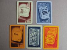 Blank face advertising playing cards