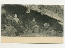 Downderry Cave dwellers postcard