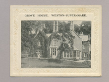 Grove House, Weston-Super-Mare advertising card