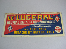 "Le ""Luceral"", French advertising sign"
