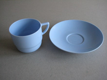 Bandalasta blue cup and saucer