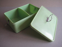 Bandalasta green divided sandwich box