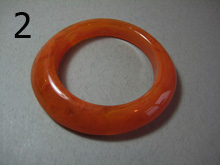 Orange bakelite bangle