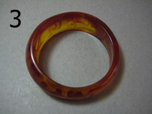 Butterscotch mottled bakelite bangle