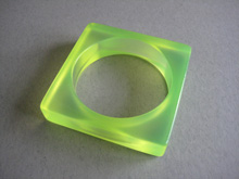 Green Lucite bangle