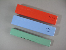 Vintage plastic knitting needle cases