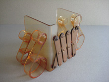 Lucite book ends