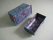 Marbled colour playing card case